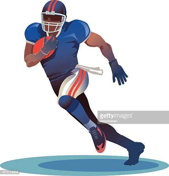 American Football Player Running With the Ball - Gridiron