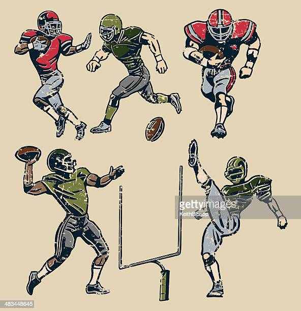 American Football Players - Retro Style