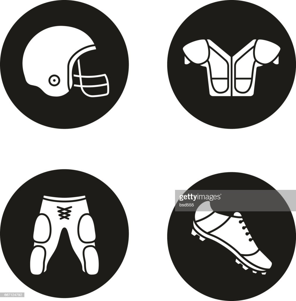 American football player's uniform icons