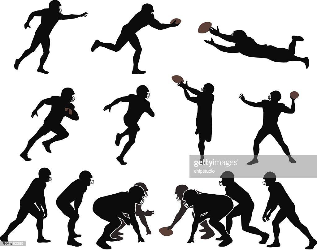 American Football Players : stock illustration