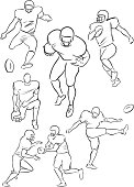 American Football playing figures 2