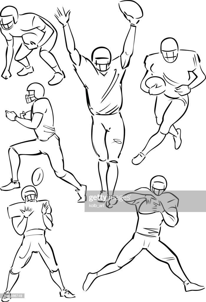 American Football playing figures