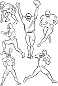 American Football playing figures