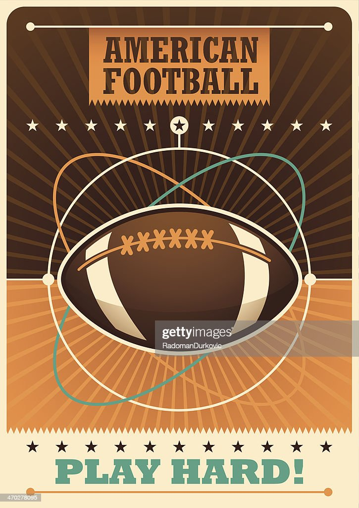 American football poster in color.