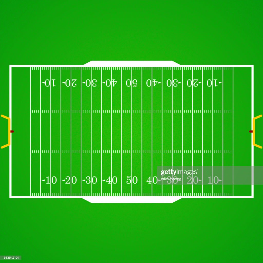 American football realistic, textured field