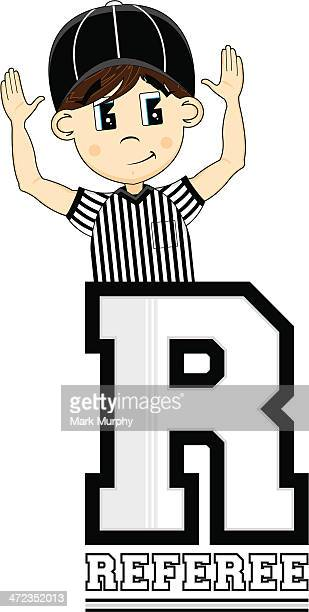American Football Referee Learning Letter R