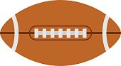 American football rugby ball vector illustration