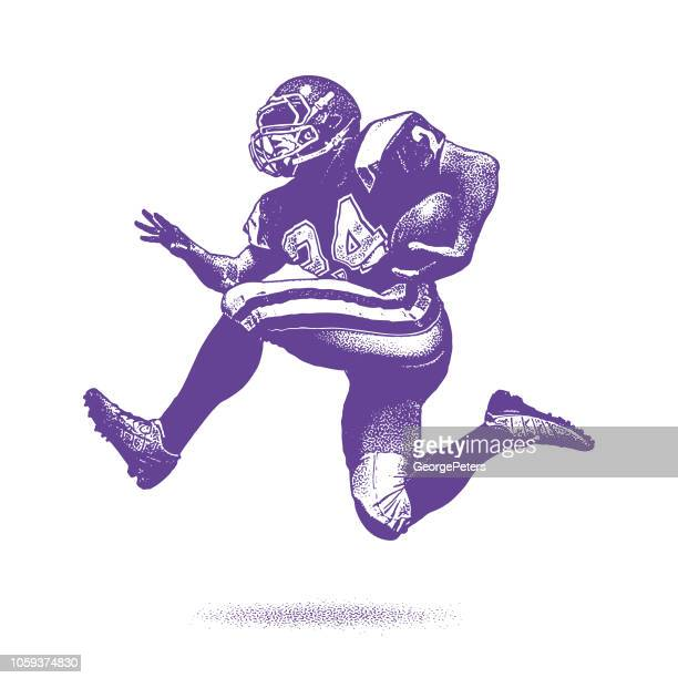 american football running back - team sport stock illustrations
