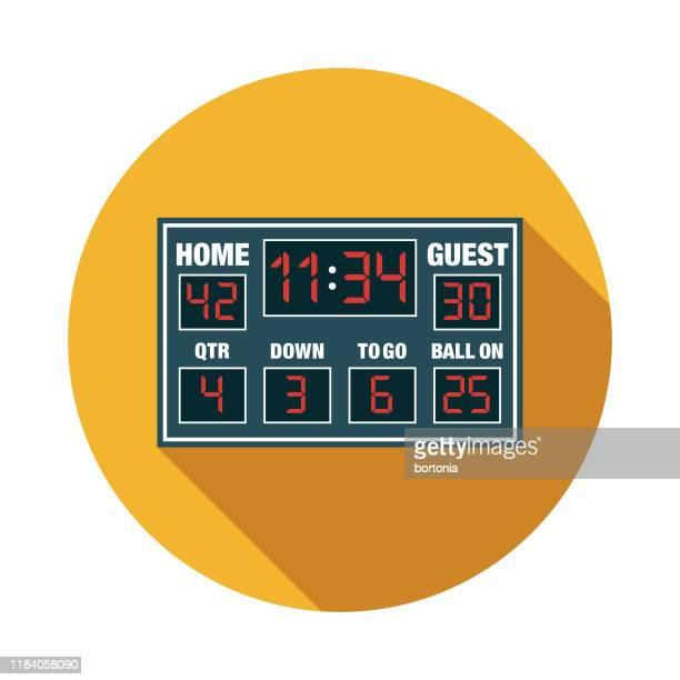 american football scoreboard icon - scoreboard stock illustrations