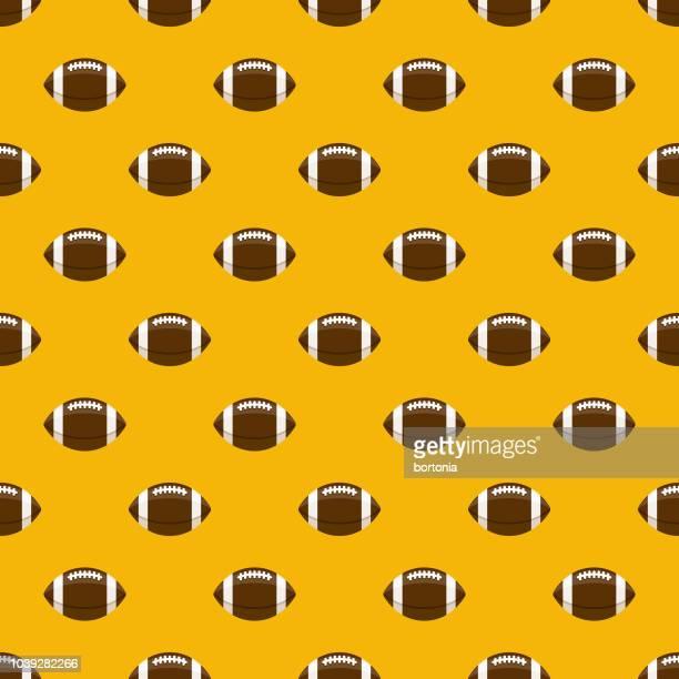 american football seamless pattern - american football ball stock illustrations