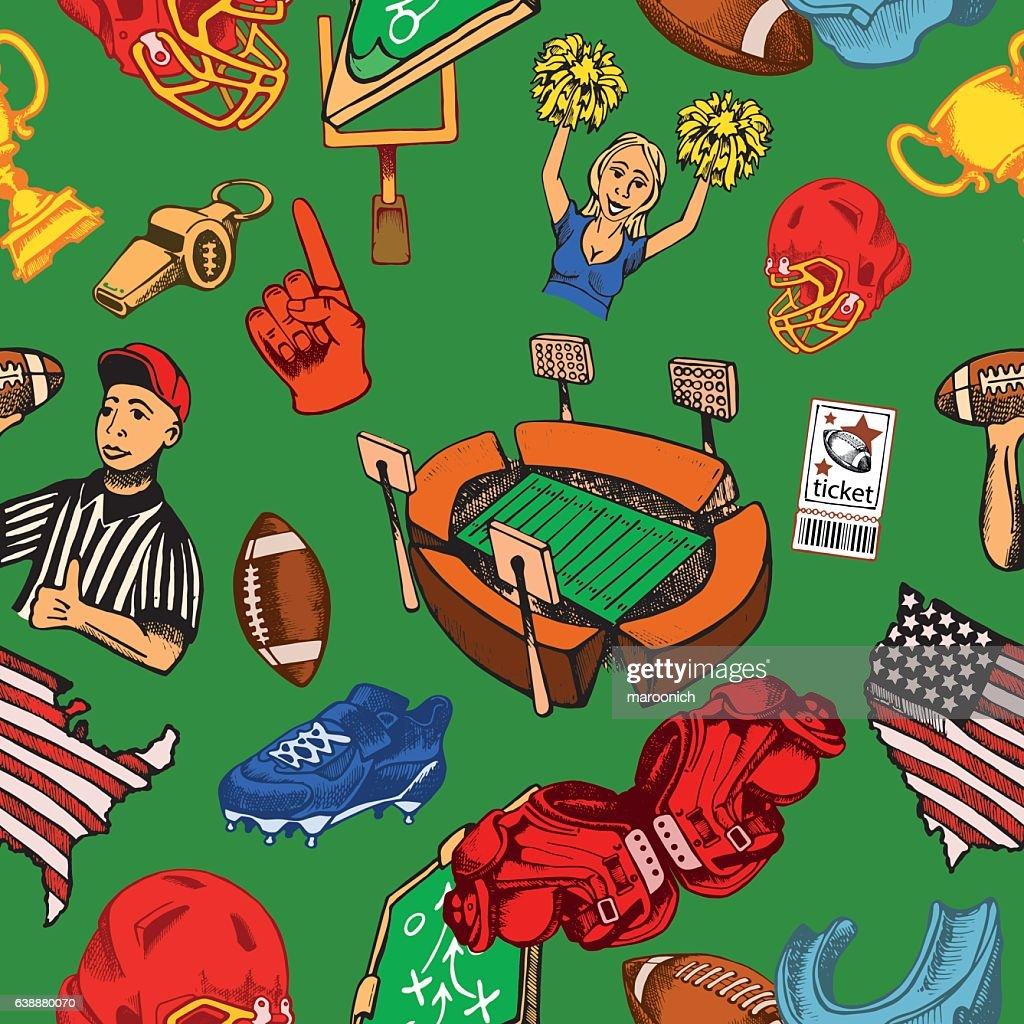 American football seamless