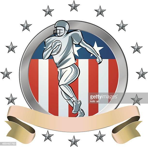 american football shield icon - sports organization stock illustrations, clip art, cartoons, & icons