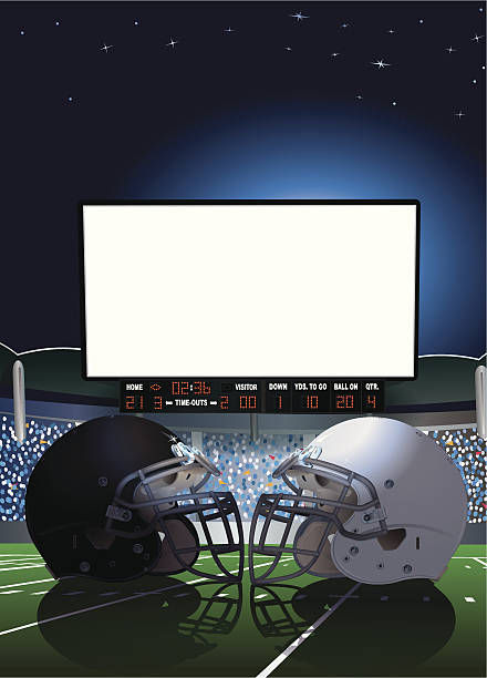 American Football Stadium Jumbotron Background Wall Art