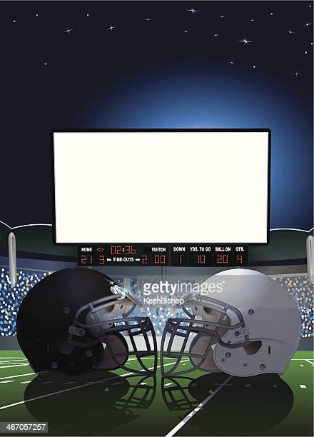 アメリカン・フットボールスタジアム巨大画面 - 大型テレビ点のイラスト素材/クリップアート素材/マンガ素材/アイコン素材
