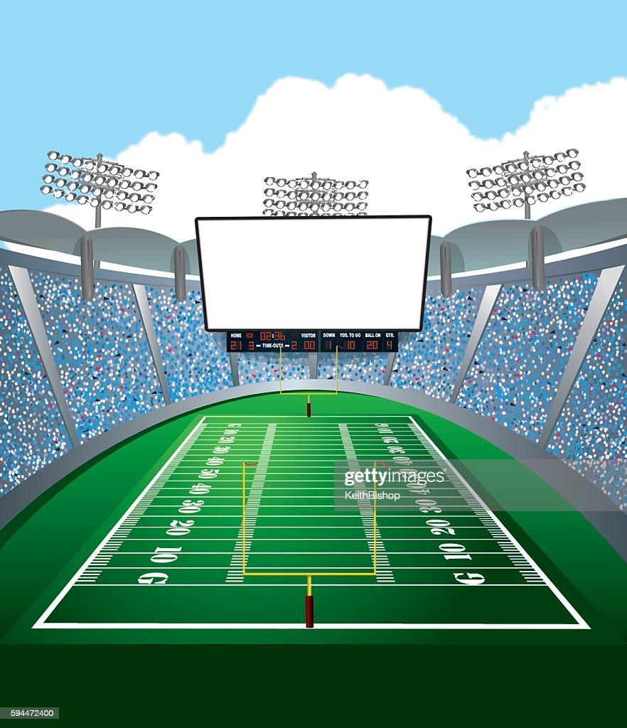 American Football Stadium Jumbotron Background