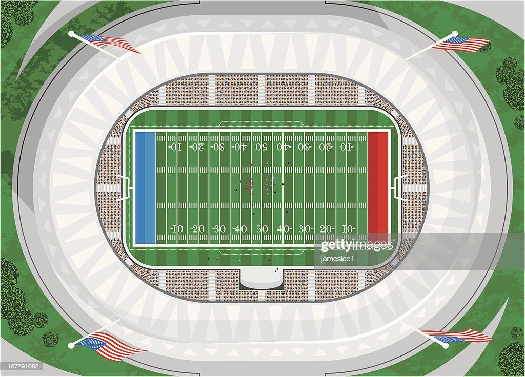 American Football Stadium : stock illustration