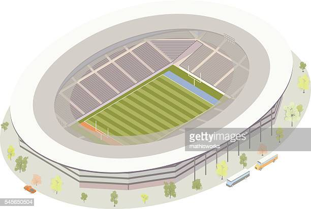 american football stadium - mathisworks architecture stock illustrations