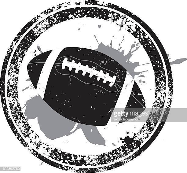 american football stamp - american football ball stock illustrations