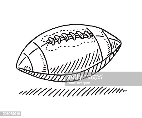 American Football Symbol Drawing Vector Art Getty Images