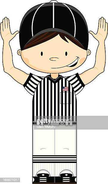 American Football Touchdown Referee