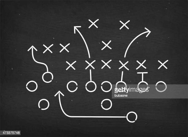 Diagrama de estratégia de futebol americano sobre chalkboard impacto