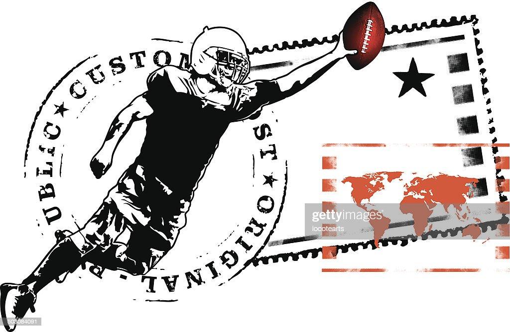 american football tribute seal