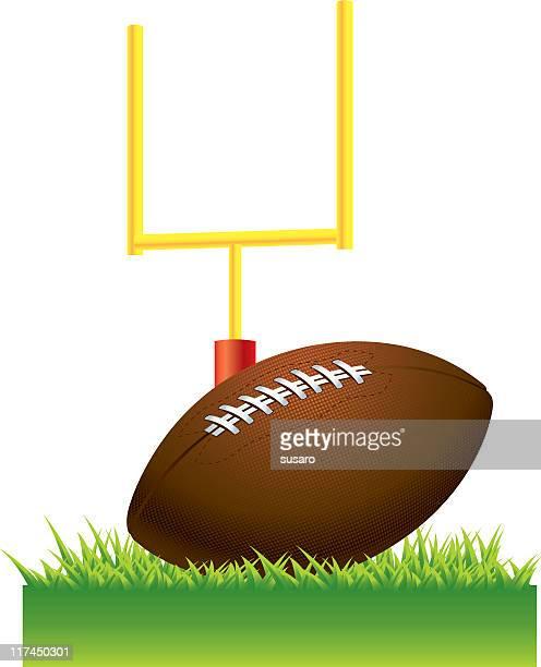アメリカンアメリカンフットボール - ゴールポスト点のイラスト素材/クリップアート素材/マンガ素材/アイコン素材