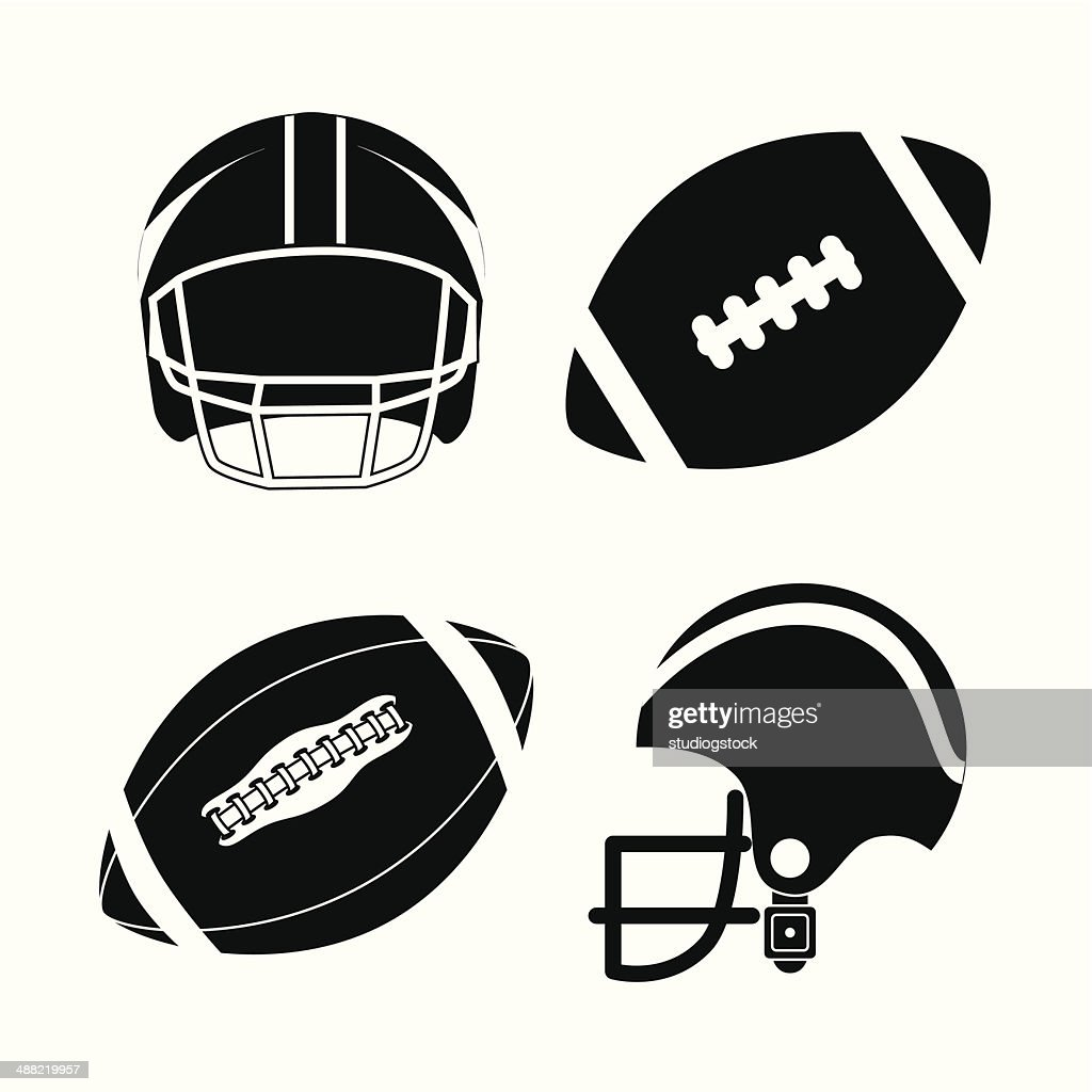 Joueur De Football Americain Clipart Vectoriel Getty Images
