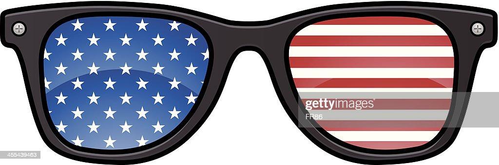 American Glasses : stock illustration