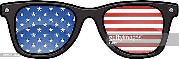 american glasses - sunglasses stock illustrations, clip art, cartoons, & icons