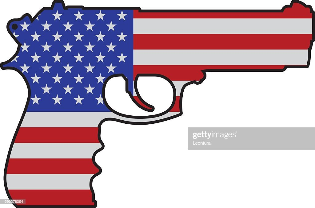 American Gun : stock illustration