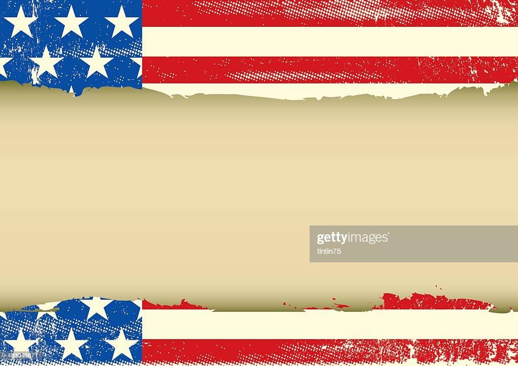 American Horizontal dirty frame
