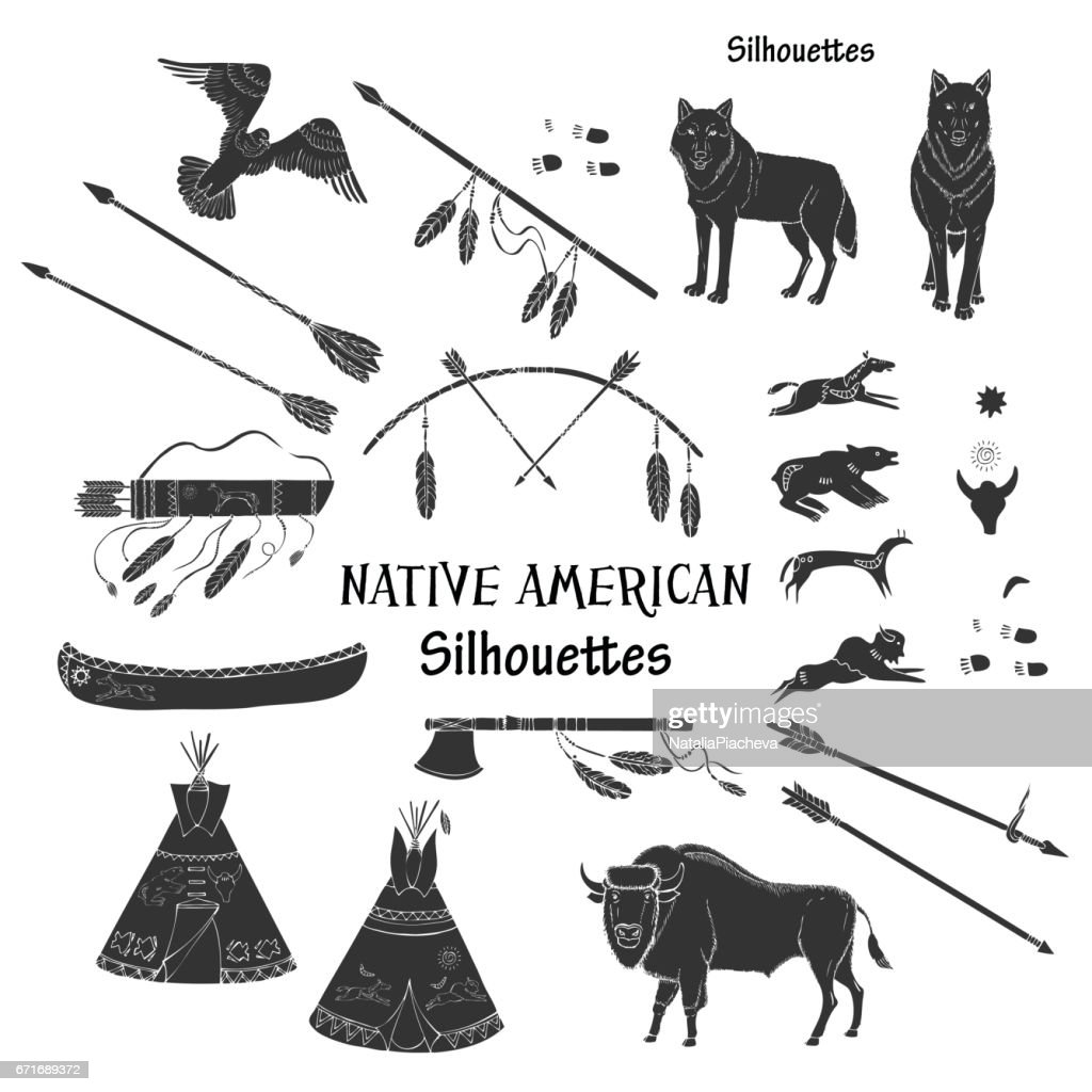 American Indian Silhouettes