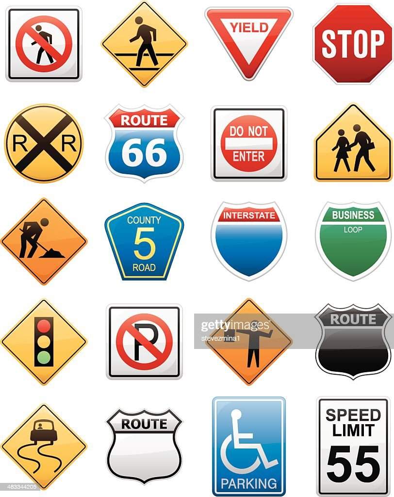 American interstate road sign vector illustration collection american interstate road sign vector illustration collection vector art buycottarizona Image collections