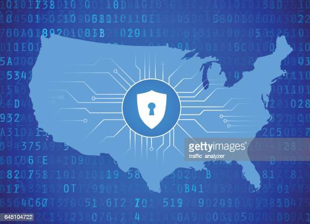American map - cybersecurity