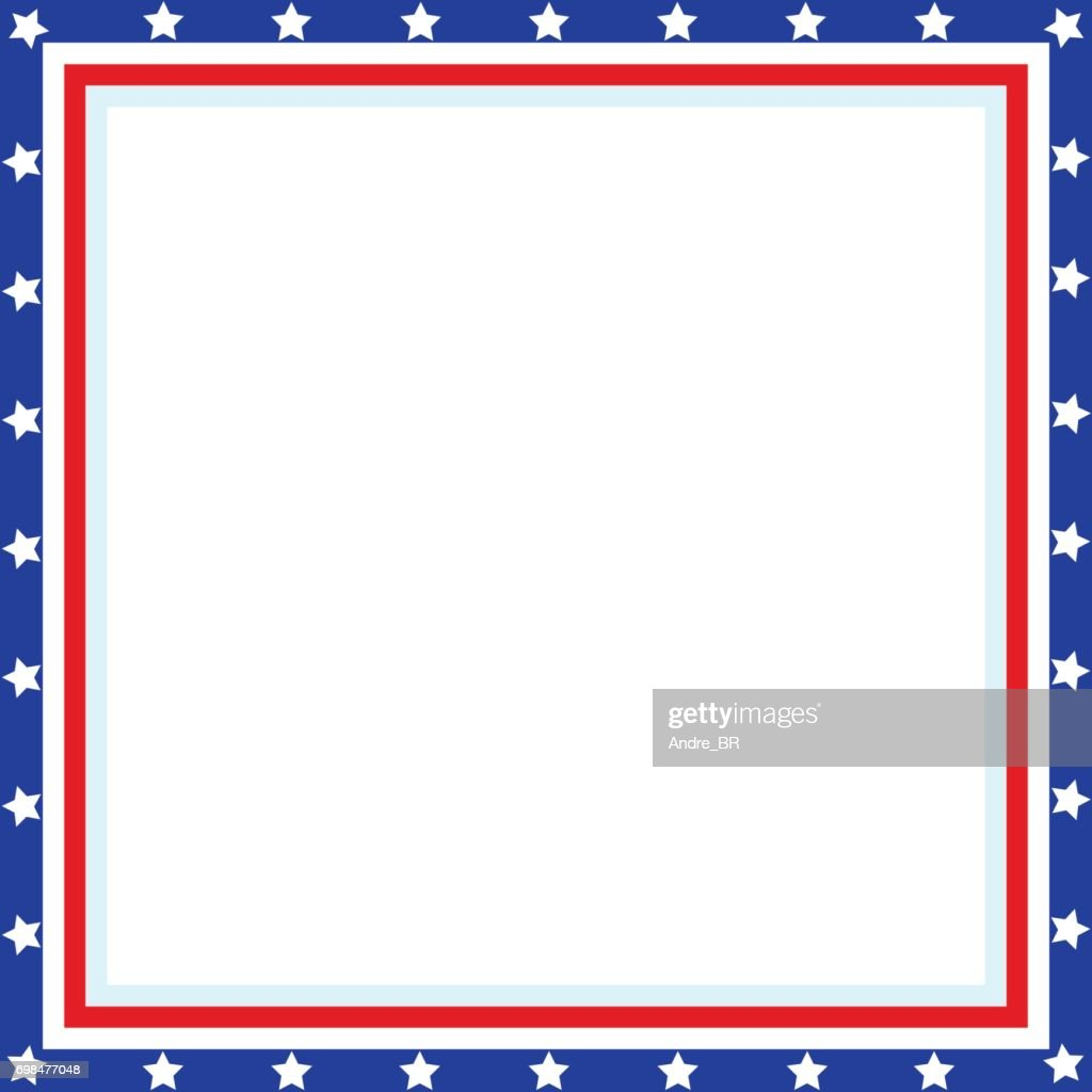 American Patriotic square frame