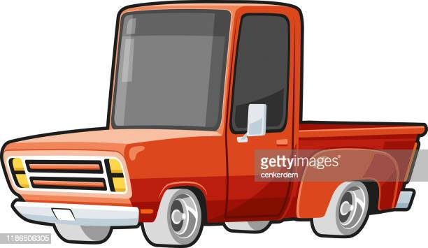 american pickup - car ownership stock illustrations, clip art, cartoons, & icons