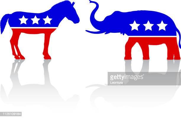 american politics - us republican party stock illustrations