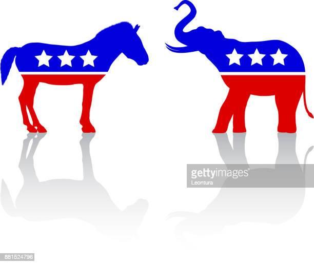 american politics - donkey stock illustrations, clip art, cartoons, & icons