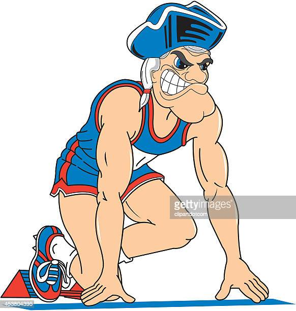 American Revolution Soldier At The Starting Block