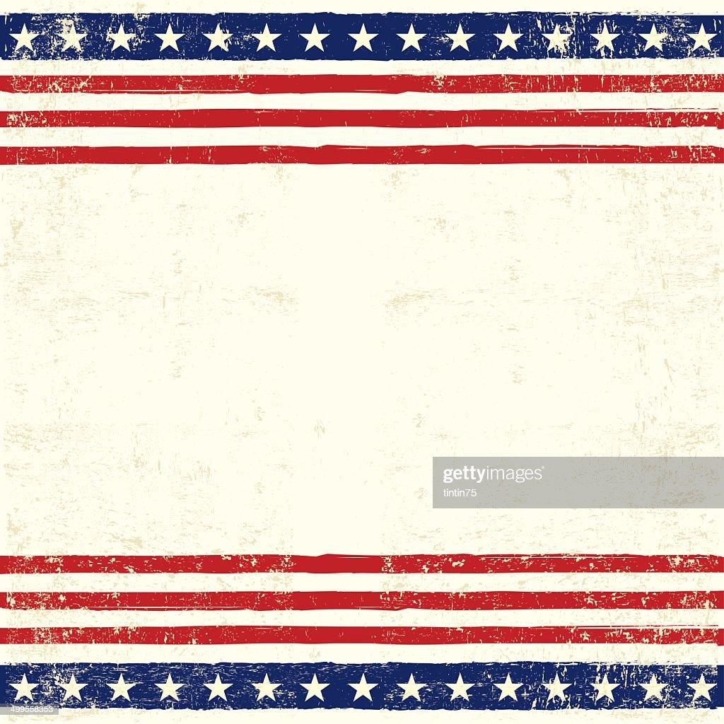 American square card