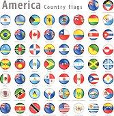 American Vector flag Button Set