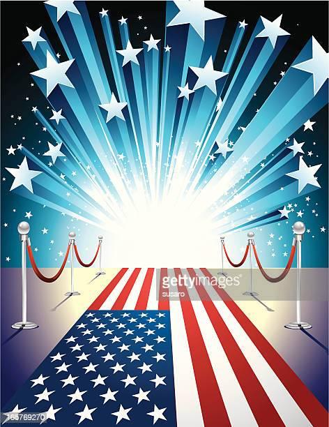american way - fame stock illustrations