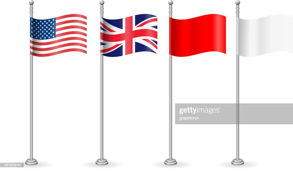 American with england flag
