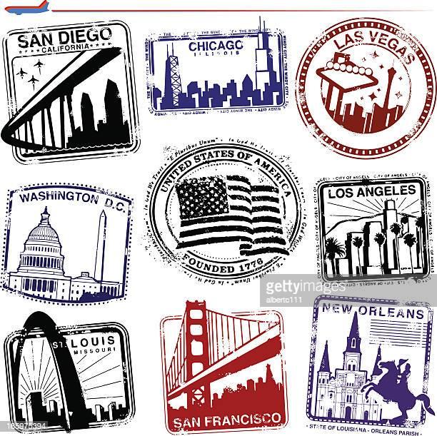 アメリカのランドマーク - ニューオリンズ点のイラスト素材/クリップアート素材/マンガ素材/アイコン素材