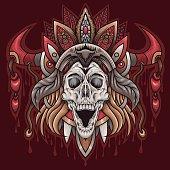 American-Indian-skull