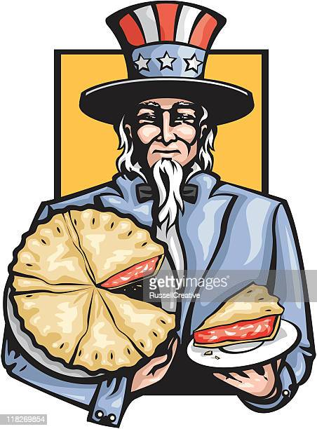 america's uncle sam - pastry dough stock illustrations, clip art, cartoons, & icons