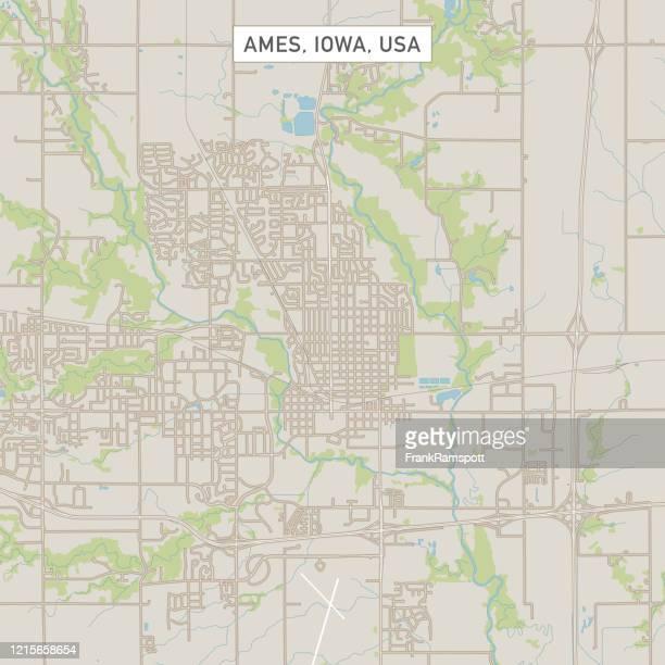 ames iowa us city street map - ames iowa stock illustrations