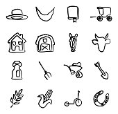 Amish Icons Freehand