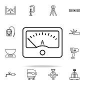 ampermeter icon. Measuring Instruments icons universal set for web and mobile